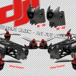 ImpulseRC Alien BatCAT cults3d.png Download STL file ImpulseRC Alien - DJI FPV BATCAT MOD • 3D printer object, bopiloot