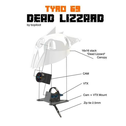 TYRO ASSEM.jpg Télécharger fichier STL TYRO69 - LÉZARD MORT • Design pour imprimante 3D, bopiloot