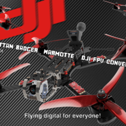 Armattan Badger CRSF PIC2.png Download STL file DJI FPV - ARMATTAN BADGER-MARMOTTE - CRSF CONVERSION KIT • 3D printable design, bopiloot