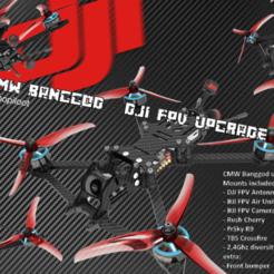 Banggod Cults02.png Download STL file DJI FPV - CMW BANGGOD UPGRADE KIT • Design to 3D print, bopiloot