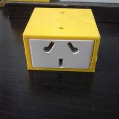 Download free STL file Box for Electric socket outlets  Module • Template to 3D print, claudiopereyra76
