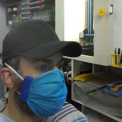 Descargar archivos STL gratis un simple clip de la máscara quirúrgica, claudiopereyra76