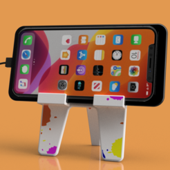 """Handy Ständer 4.png Download STL file Mobile phone holder """"PABLO"""" • 3D printer design, wowo3D"""