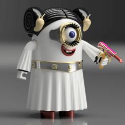 Mini-Leia 1.png Download STL file Mini-Leia • 3D printer model, wowo3D