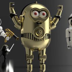 C-3PO  4.png Download STL file Mini-C3po • 3D printable model, wowo3D