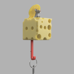Maus New1.png Download STL file Key hoe mouse in cheese • 3D print template, wowo3D