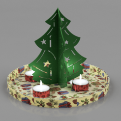 Advents_Baum.png Download STL file Christmas-Advent-Tree • 3D printing model, wowo3D