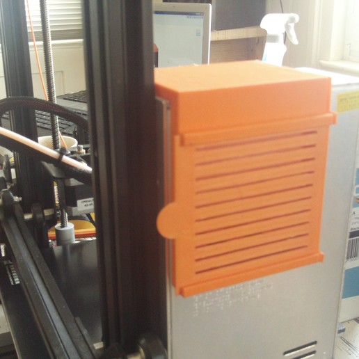 """Download 3D printer templates """"Sylender"""" noice reduction for Ender 3  power supply Vans , wowo3D"""