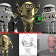 Download 3D printing designs Mini-C3po, wowo3D