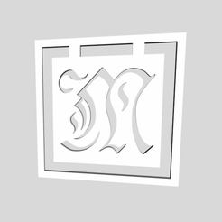 Télécharger fichier impression 3D Signets de l'alphabet Lettre M, chantellex