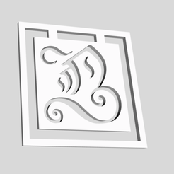 Download 3D printing templates Alphabet Bookmarks Capital Letter B, chantellex