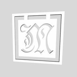 Download STL Alphabet Bookmarks Letter M, chantellex