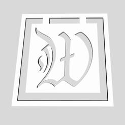 Download 3D printer templates Alphabet Bookmarks Letter W, chantellex