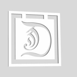 Download 3D printing files Alphabet Bookmarks Capital Letter D, chantellex