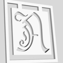 Download 3D printing designs Alphabet Bookmarks Capital Letter A , chantellex