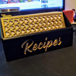 Download 3D print files Recipe card box for cooking, kwaaaa