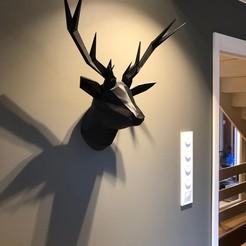 Imprimir en 3D Cabeza de Ciervo Baja en Polietileno, trondve