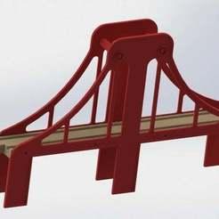 Train_Bridge_01_Rendered.jpg Télécharger fichier STL gratuit Pont ferroviaire • Objet à imprimer en 3D, FraGar