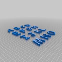 Download free 3D printing designs Comic_Sans_alfabet, FraGar