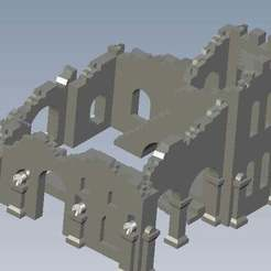 Download free 3D printer model Tower ruins, FraGar