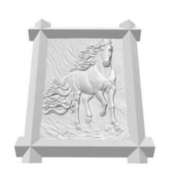 Horse_Frame_V.jpg Télécharger fichier STL Cheval encadré • Objet pour impression 3D, FraGar