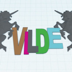 Download free 3D printing designs Vilde_Unicorn, FraGar