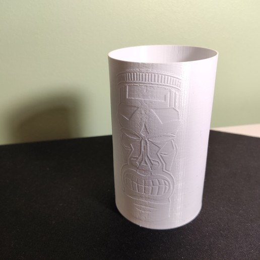 IMG_20190925_202703.jpg Download free STL file Tiki cup for pens • 3D print template, DenStasis