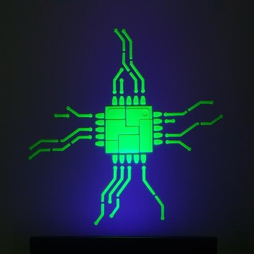 Télécharger fichier STL gratuit Art mural, Fluorescent • Objet imprimable en 3D, DenStasis