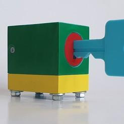 Download free STL file Lock cylinder, door lock • 3D printing template, DenStasis