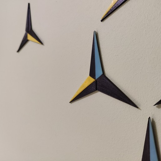 Download free 3D printing designs Wall decoration,  3 point star, DenStasis