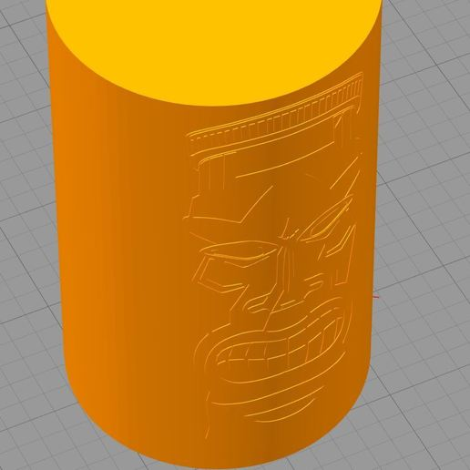 Tiki.JPG Download free STL file Tiki cup for pens • 3D print template, DenStasis