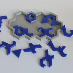 DSC_1081.JPG Download STL file Hex jigsaw puzzle • Model to 3D print, spyfox_3d_printing