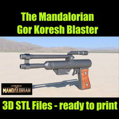 vignette.jpg Télécharger fichier STL Star wars - The Mandalorian - Gore Koresh Blaster • Objet imprimable en 3D, spyfox_3d_printing