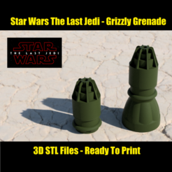 Download STL file Star Wars: The Last Jedi - Grizzly Grenade and Bomb • 3D print object, spyfox_3d_printing