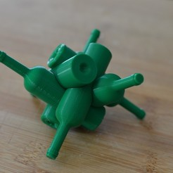 Download STL file Bottle puzzle - bottles puzzle • 3D print model, spyfox_3d_printing