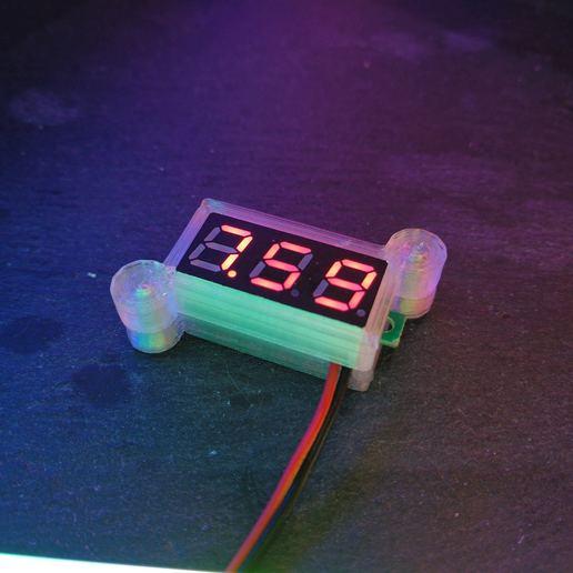 Télécharger fichier STL gratuit Mini boîtier pour module de voltmètre, suromark