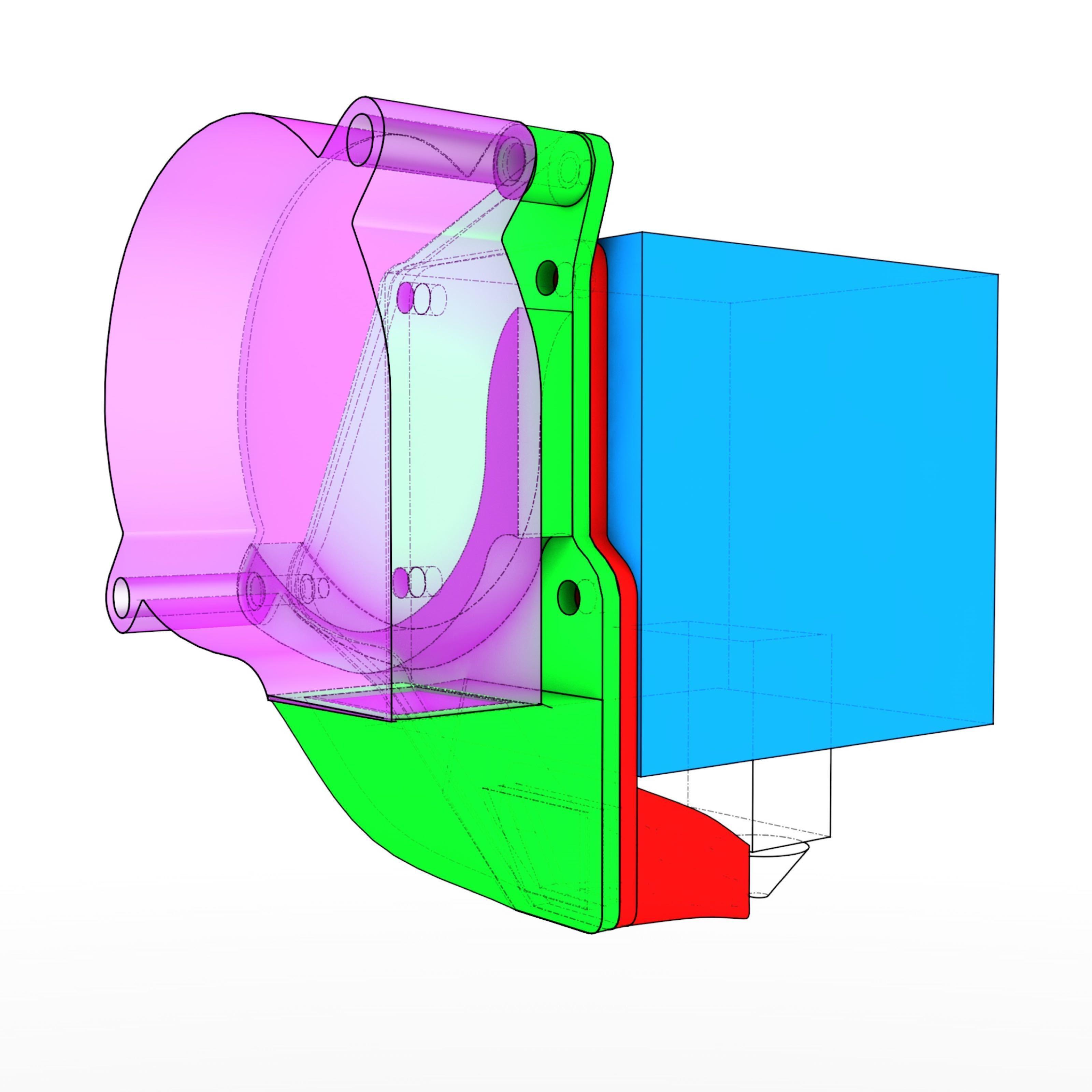 img2.jpg Télécharger fichier STL gratuit YaVoFaDu - Encore un conduit de ventilateur de volcan pour le TronXY X5S • Design pour impression 3D, suromark