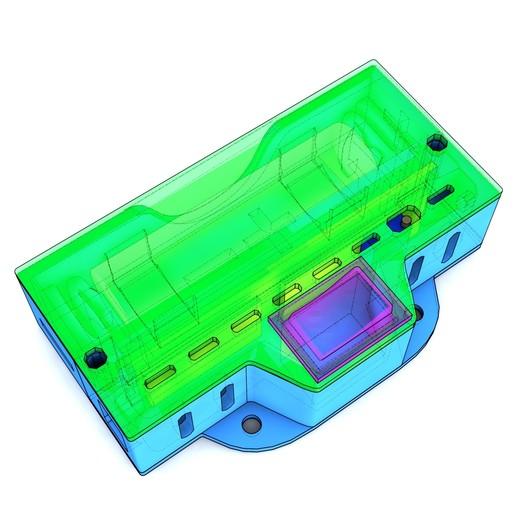 CamBattery_0003-1.jpg Télécharger fichier STL gratuit Boîtier de batterie 18650 avec espace pour le chargeur et le convertisseur élévateur • Objet pour impression 3D, suromark