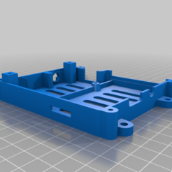 RaspiComboCasePSU-Lower.png Download free STL file Raspberry Pi 2/3 case with room for extras • 3D printing model, suromark