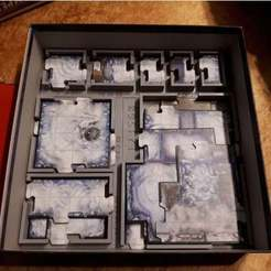 Download free 3D printing models Imperial Assault: Return to Hoth - Map Tile Organizer, nickgrawburg