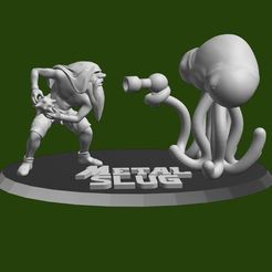 Impresiones 3D Metal Slug, Jui! and Alien, Satanuel