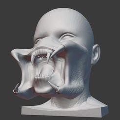 Impresiones 3D Predator mask. Mascara Depredador, Satanuel