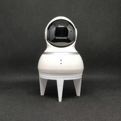 Télécharger objet 3D Base de bureau pour caméra de maison Yi Dome, Carbo6
