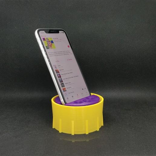 Télécharger objet 3D Support pour téléphone & Sound box, Carbo6