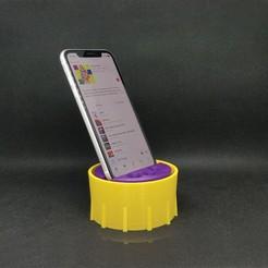 Télécharger fichier STL Support pour téléphone & Sound box • Objet pour imprimante 3D, Carbo6