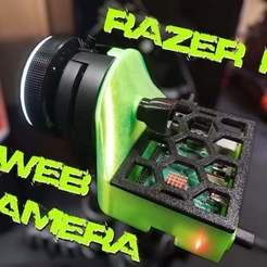 Razer_Pi_Web_Camera.jpg Download free STL file Razer Pi Webcam (Razer Kiyo) • Design to 3D print, Dragon2781