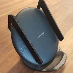 Imprimir en 3D gratis Soporte de alineación para cargador Qi inalámbrico convertible de Samsung, Dragon2781