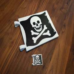 Download free 3D printer designs LEGO Pirate Flag - Jolly Roger (Multi Color), Dragon2781