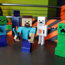 Download free STL file Minecraft figures set - Multi Color • Design to 3D print, Dragon2781