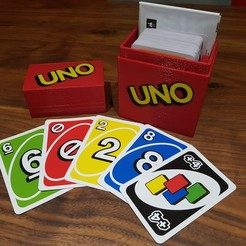 20191216_160116.jpg Download free STL file UNO Box - Multi Color - Space for Cards and Instructions • 3D printable model, Dragon2781